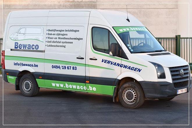 ontwerp responsive website met WordPress CMS voor Bewaco bedrijfswageninrichtingen uit Westrozebeke